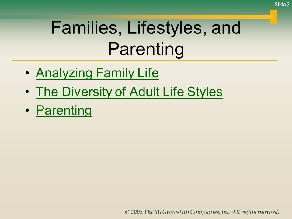 Families, Lifestyles, and Parenting