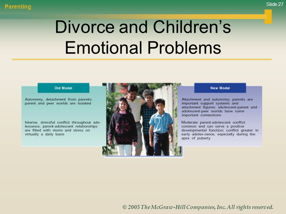 Divorce and Children's Emotional Problems