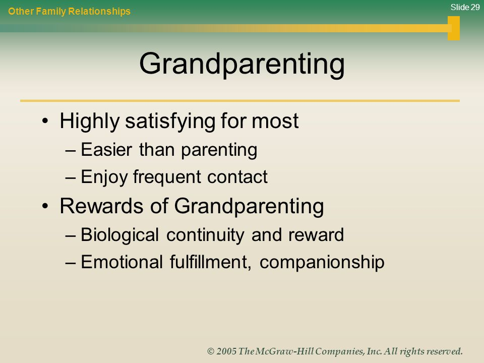 Grandparenting Highly satisfying for most Rewards of Grandparenting