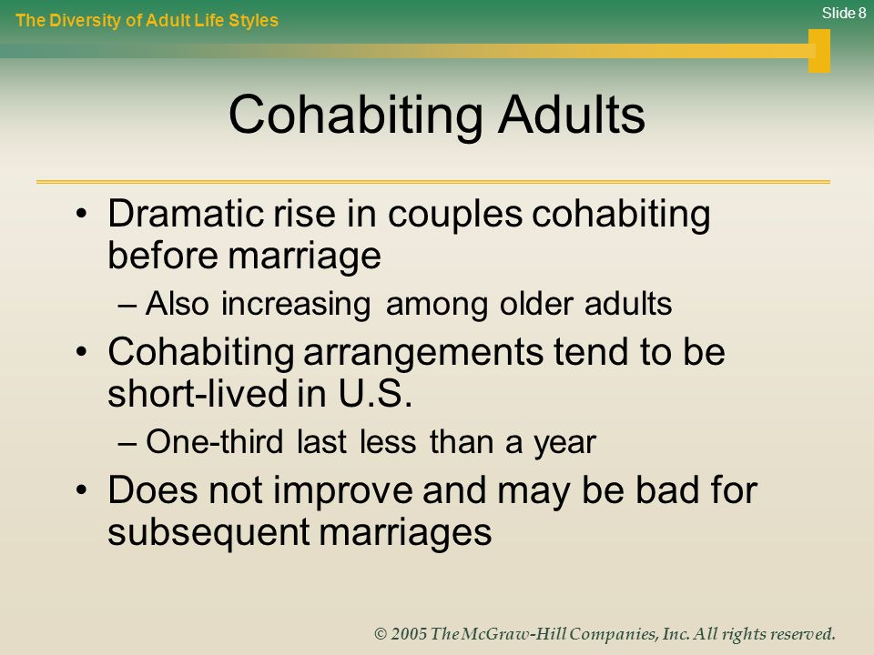 Cohabiting Adults Dramatic rise in couples cohabiting before marriage