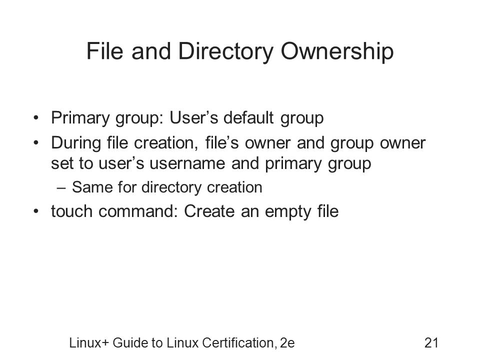 File and Directory Ownership