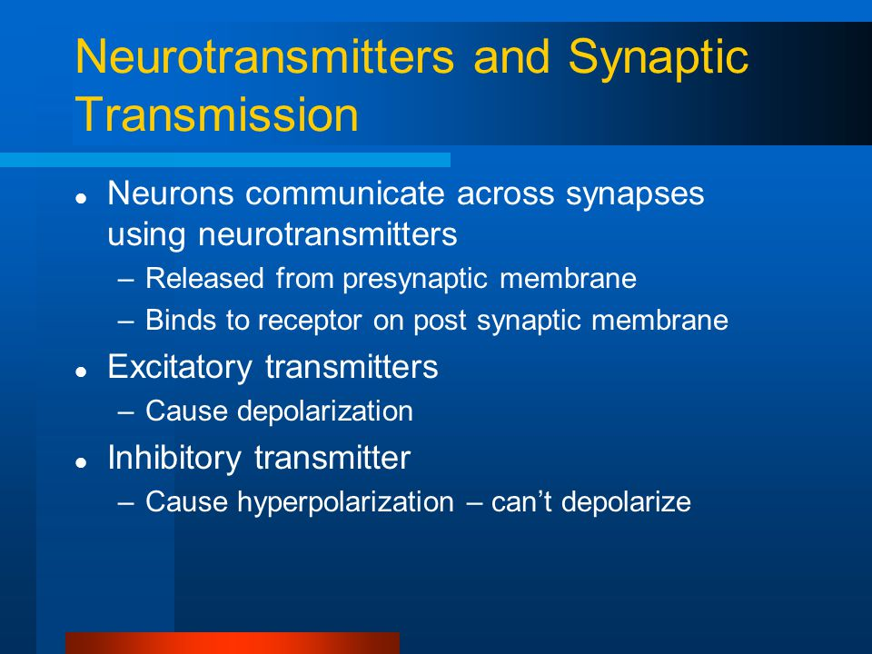 Neurotransmitters and Synaptic Transmission