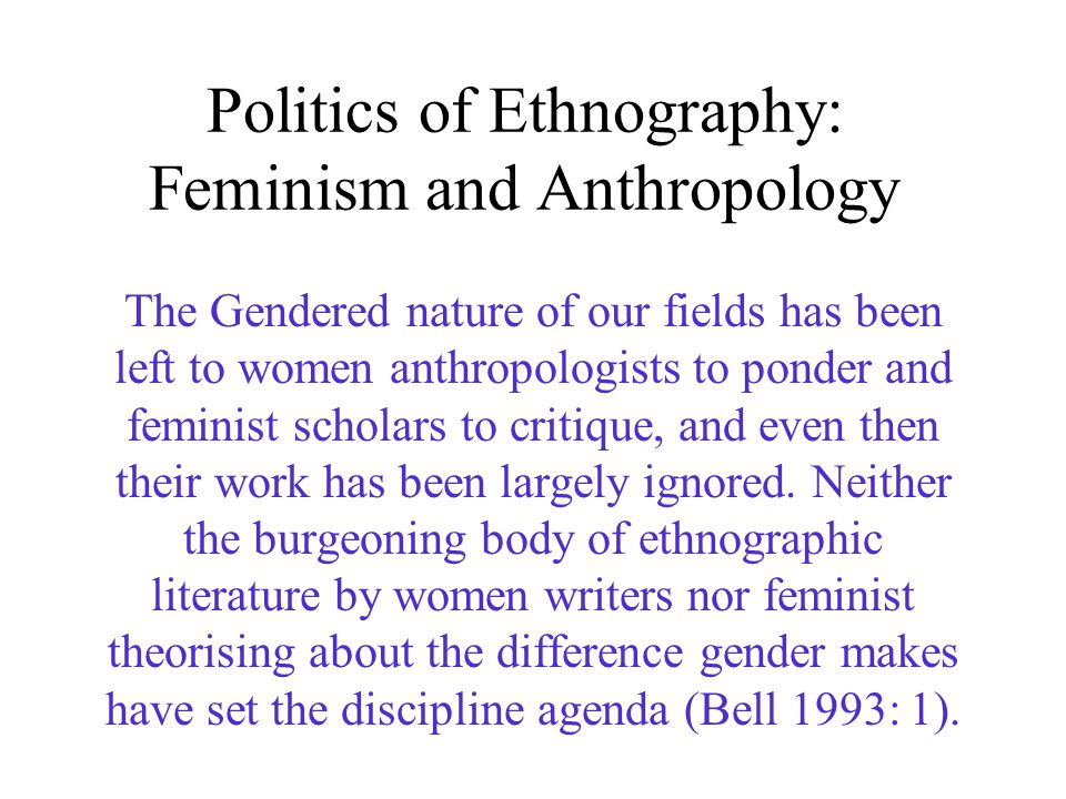 Ethnographic feminisms essays in anthropology