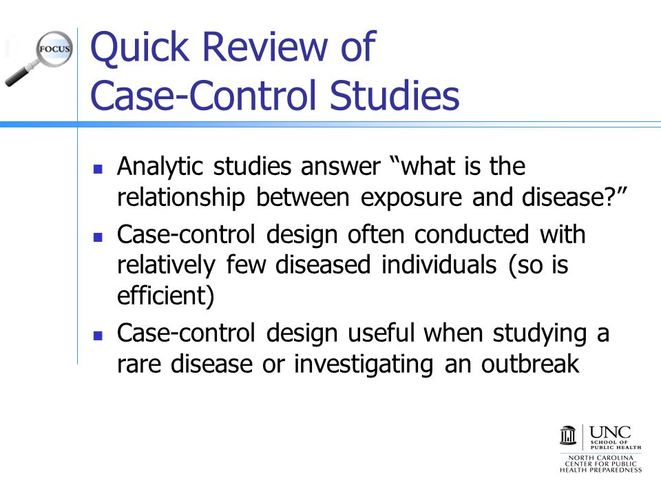 Case-Control Study - an overview | ScienceDirect Topics