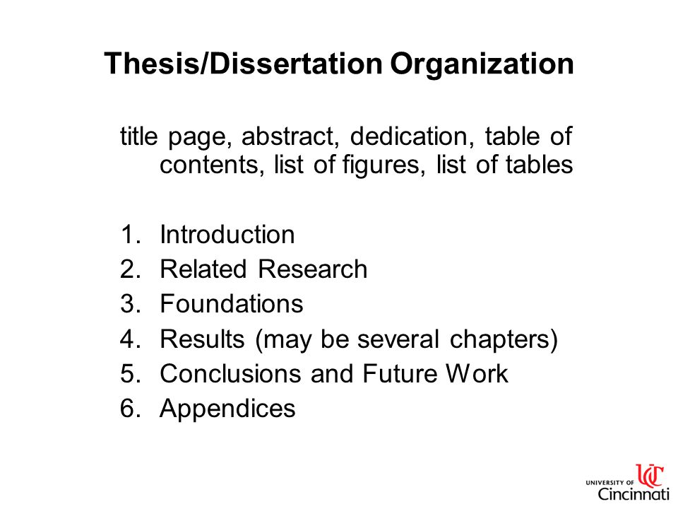 organization of chapters in a thesis 2 the organization, content and format of the thesis/dissertation are of  chapter  titles, figure legends, appendix material, and all bibliographic entries for long.