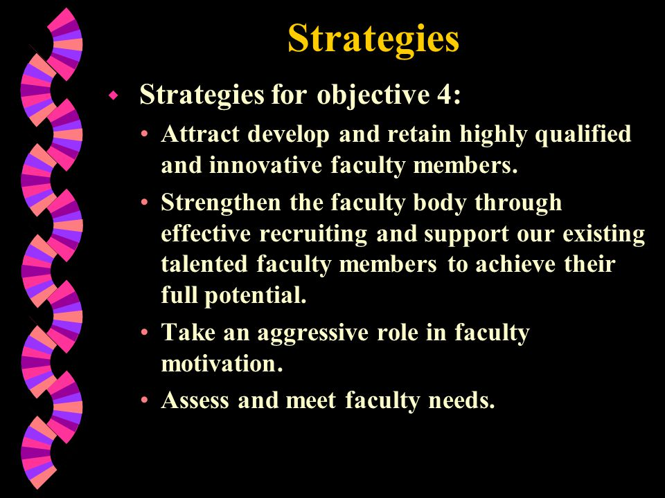 Strategies Strategies for objective 4: