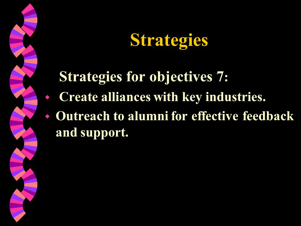 Strategies Strategies for objectives 7: