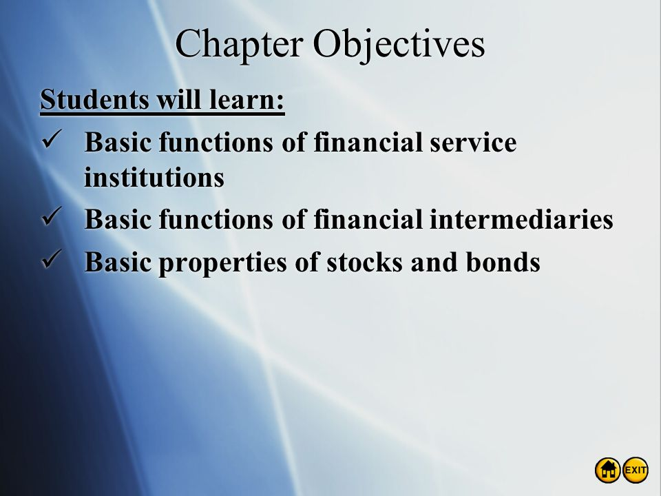Chapter Objectives Students will learn: