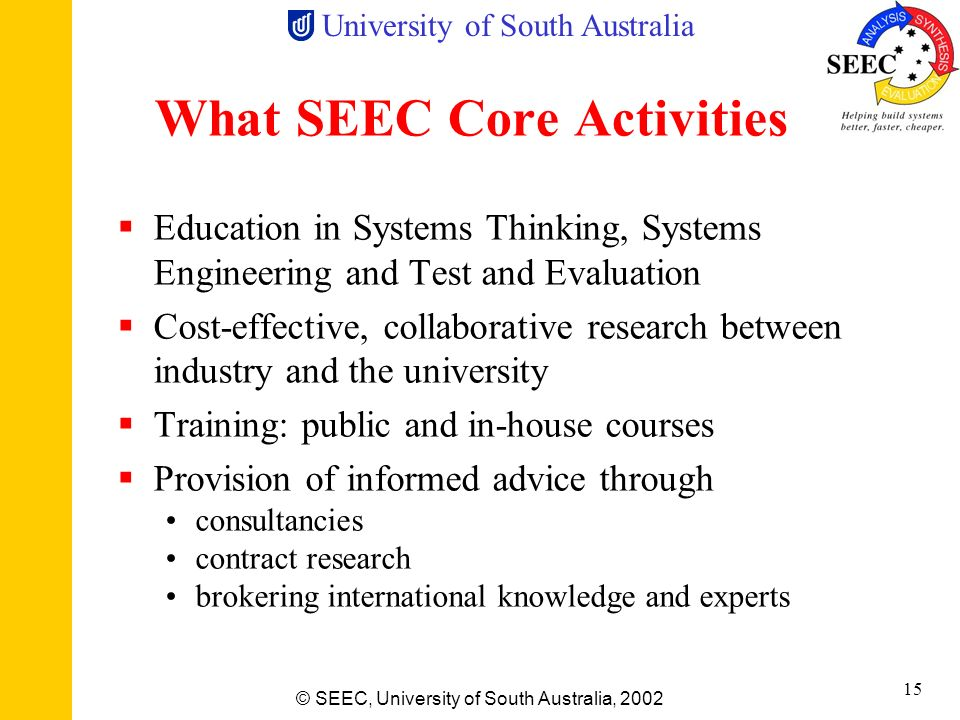 What SEEC Core Activities