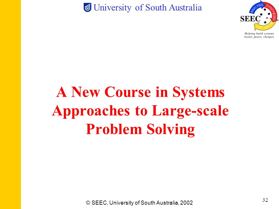 A New Course in Systems Approaches to Large-scale Problem Solving