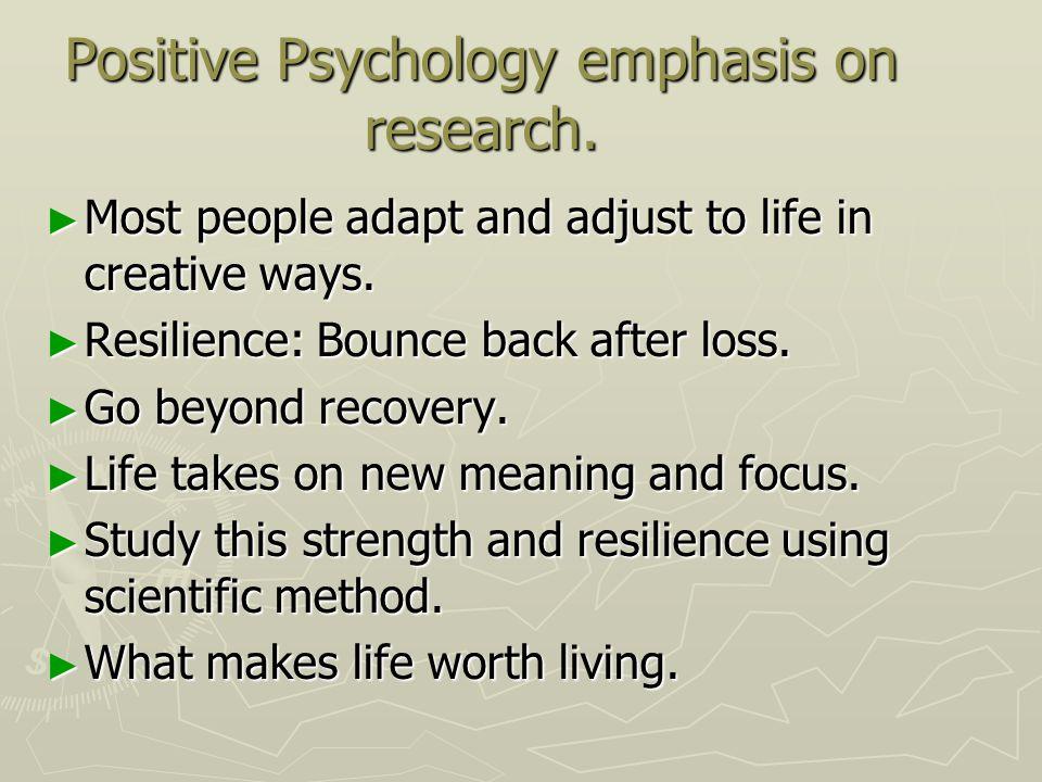 trauma and positive psychology essay
