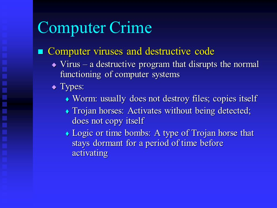 Chapter 9 Information Systems Ethics, Computer Crime, and ...
