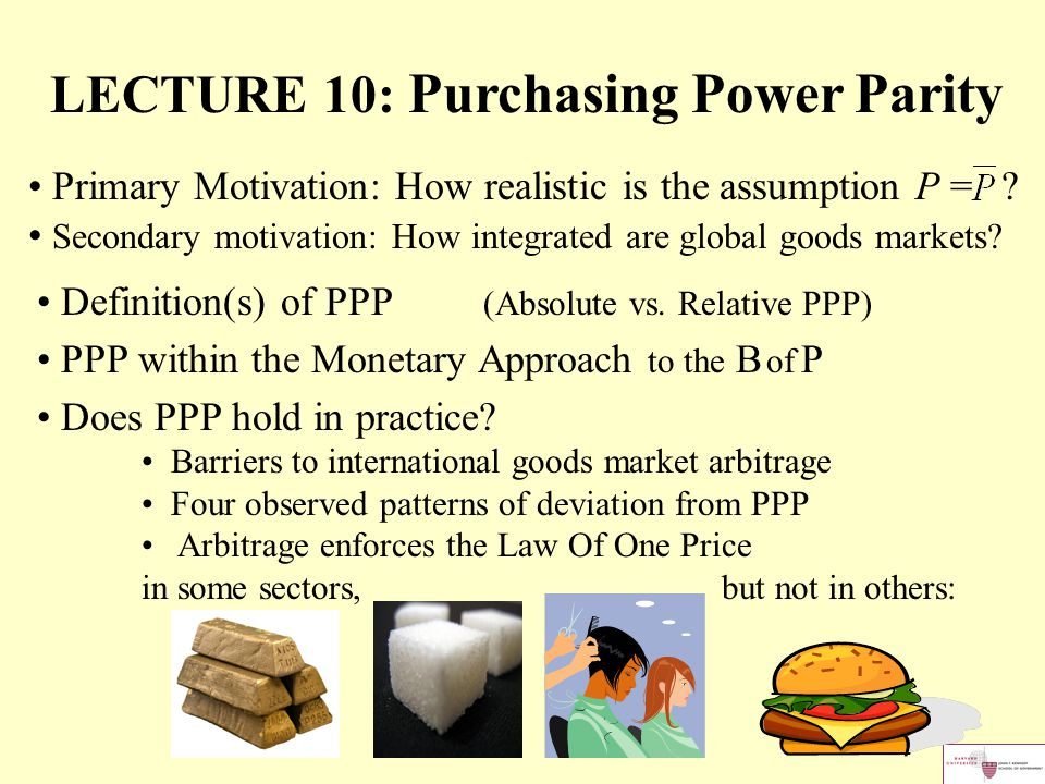 LECTURE 10: Purchasing Power Parity - ppt download