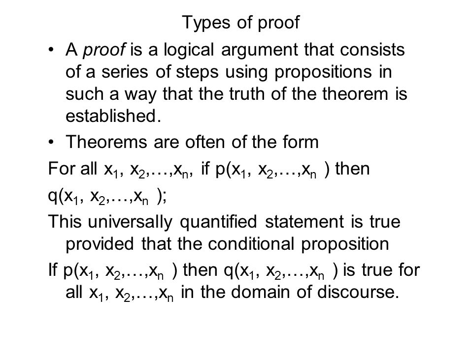 Types of proof