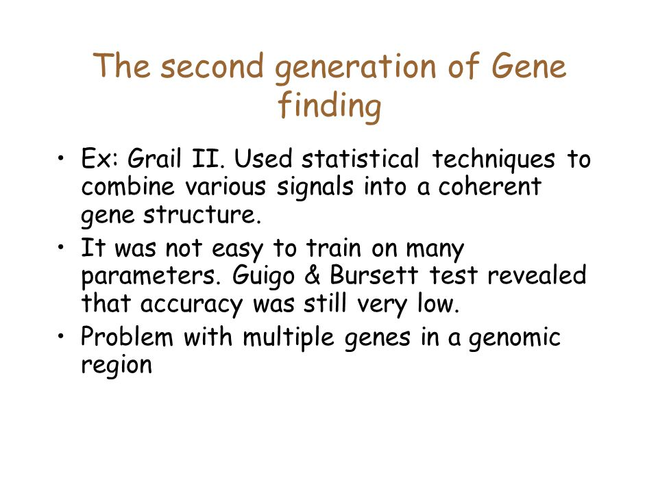 The second generation of Gene finding