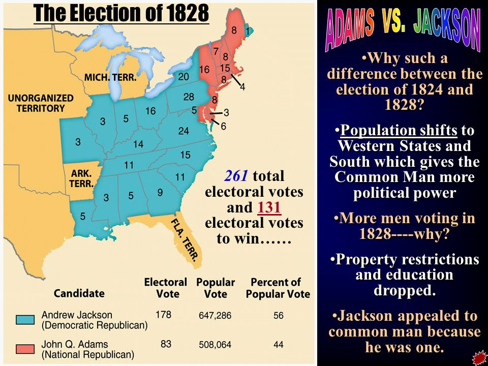 the 1828 election Partisan control of congress and the presidency previous party incoming party president democratic-republican democratic house democratic-republican democratic senate democratic-republican democratic the 1828 united states elections elected the members of the 21st united states congress.