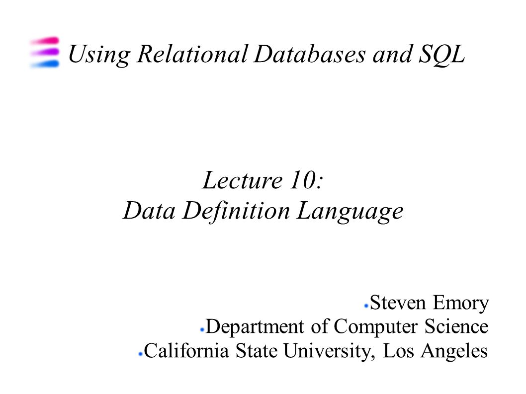 Using relational databases and sql ppt download using relational databases and sql baditri Image collections