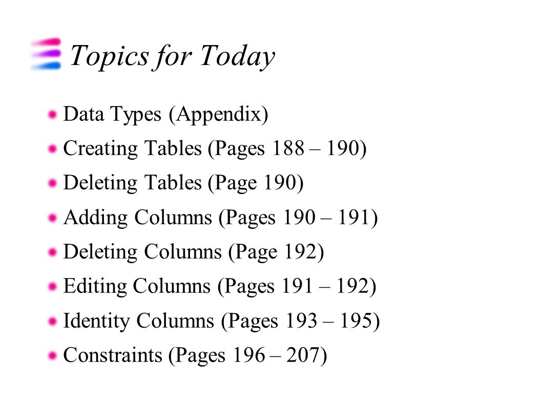 Using relational databases and sql ppt download 3 topics baditri Image collections