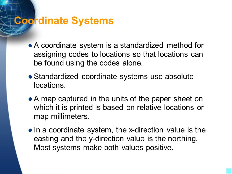 Coordinate Systems For The Us