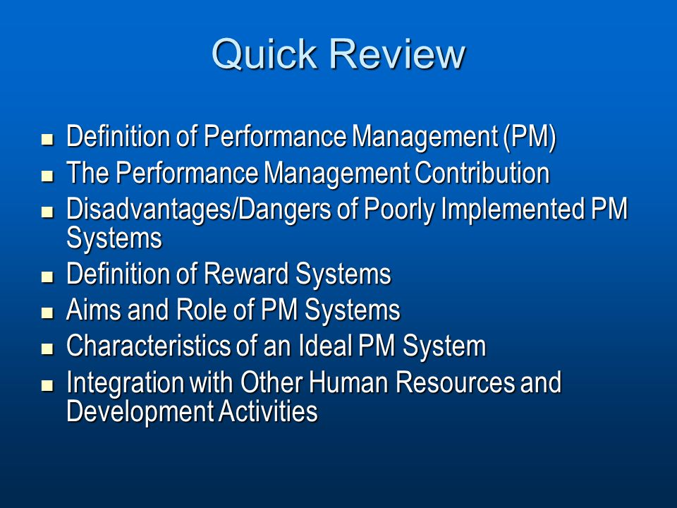 characteristics of an ideal appraisal system This article is about the characteristics of effective performance  i have discussed the characteristics of ideal performance management post your views in.