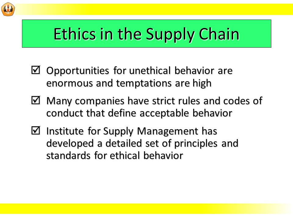 the importance of setting the ethical standards for a company Before a person can apply any standards of ethical philosophy to an issue goals and goal setting journal of business ethics 9.