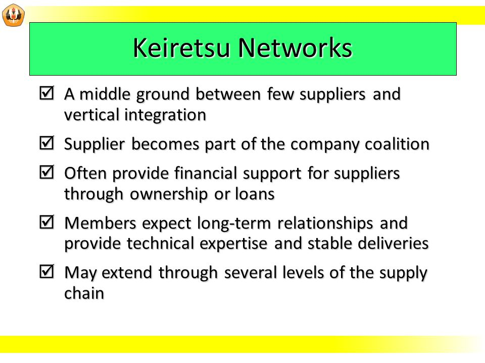 whether a keiretsu network a virtual company a vertical integration List of disadvantages of vertical integration here are a few thoughts with reference to the significance of vertical integration to be implemented in your company.