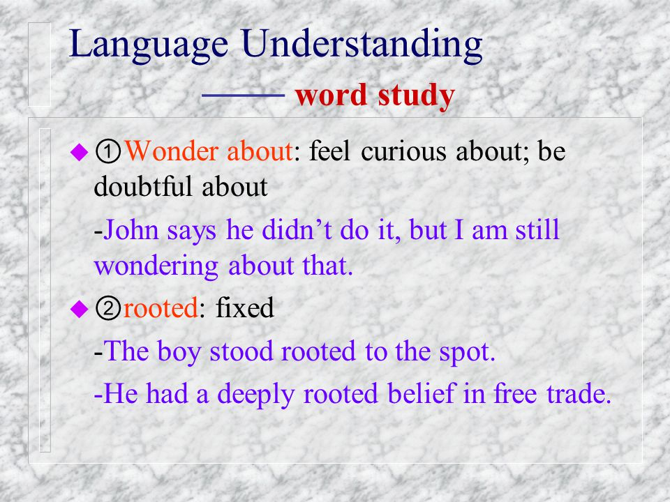 I robot language study text study