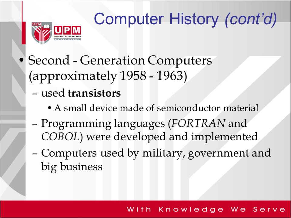 the applications of first generation of computers in the military Computer history 101: the development of the pc the inventor of the first electronic digital computer military needs during first generation of modern.