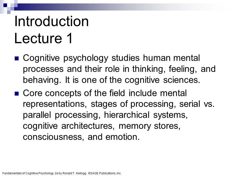 cognitive mental processes final Cognitive symptoms of depression may not respond well to the mental process of and reasoning as contrasted with emotional and volitional processes.