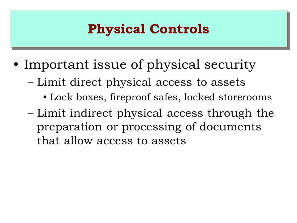 Important issue of physical security