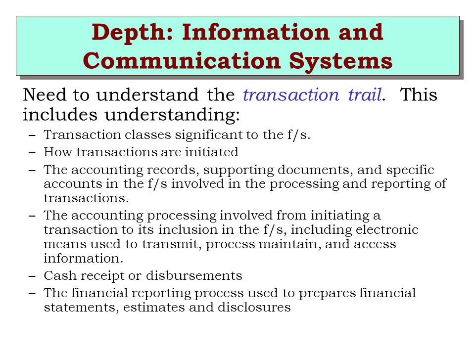 Depth: Information and Communication Systems