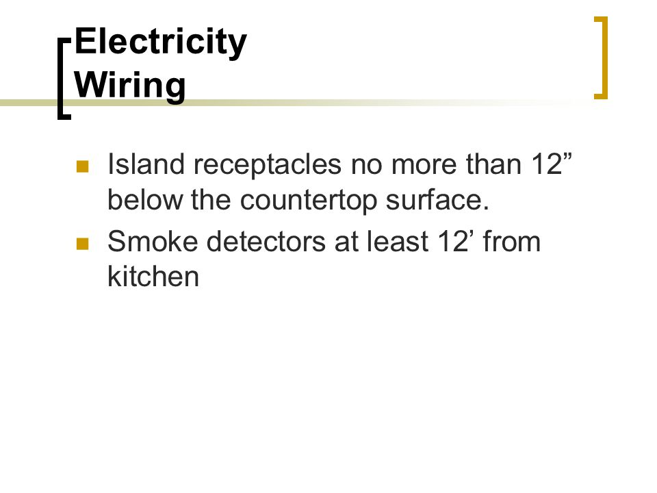 Countertop Microwave Dedicated Circuit : ... the countertop surface. Smoke detectors at least 12? from kitchen