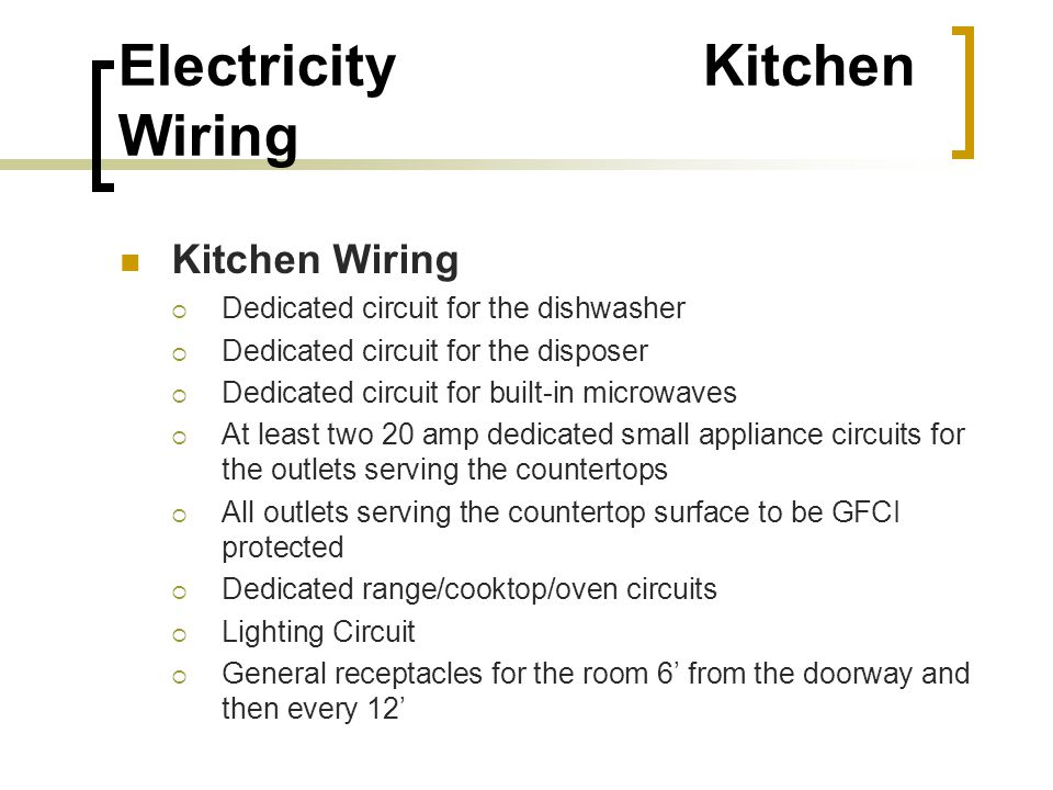 41 Electricity Kitchen Wiring