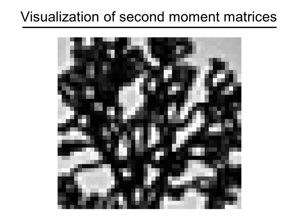 Visualization of second moment matrices