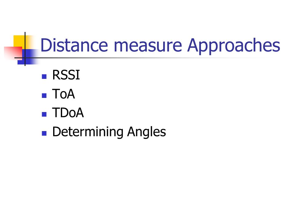 Distance measure Approaches