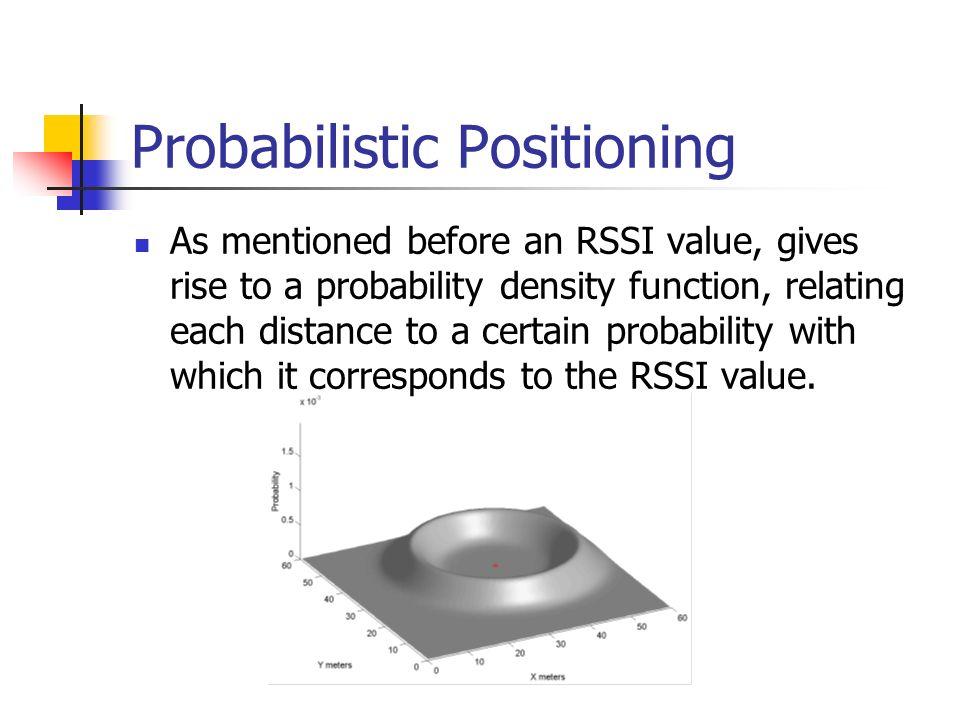 Probabilistic Positioning
