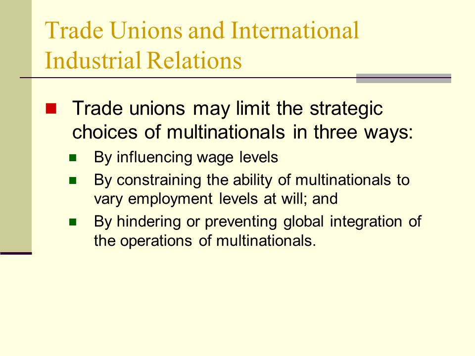employee relations trade unions essay Highlights and describes the main elements of this and assesses the implications for the future of trade unions and collective bargaining keywords: bargaining , collective bargaining , employee relations , individual behaviour , industrial relations , trade unions.