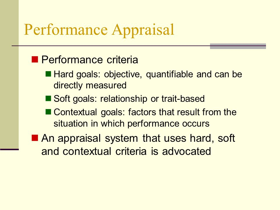Distortion factor in performance appraisal