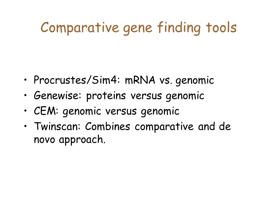 Comparative gene finding tools