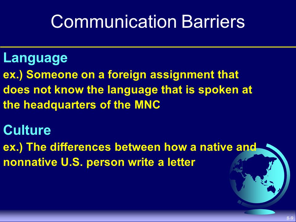 language barriers to intercultural communication