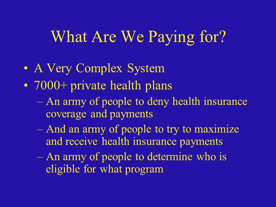 What Are We Paying for A Very Complex System