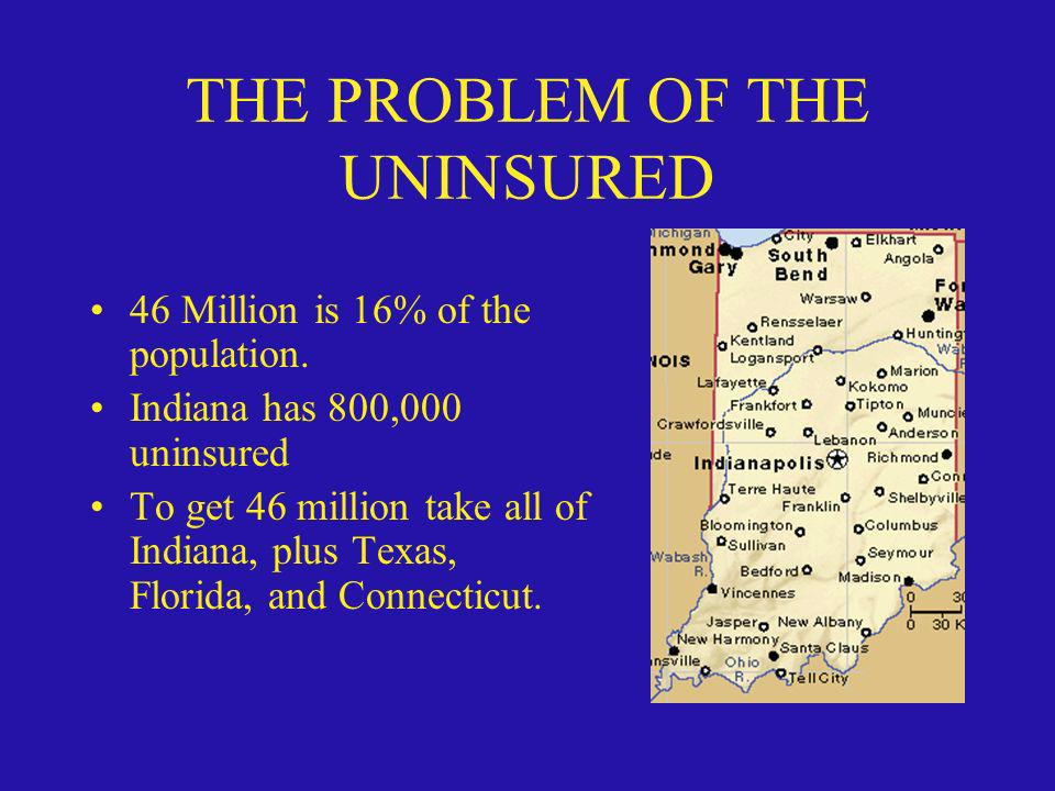 THE PROBLEM OF THE UNINSURED
