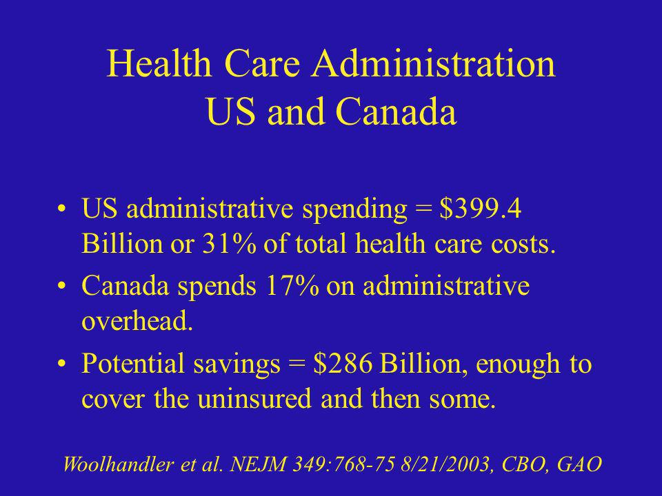 Health Care Administration US and Canada