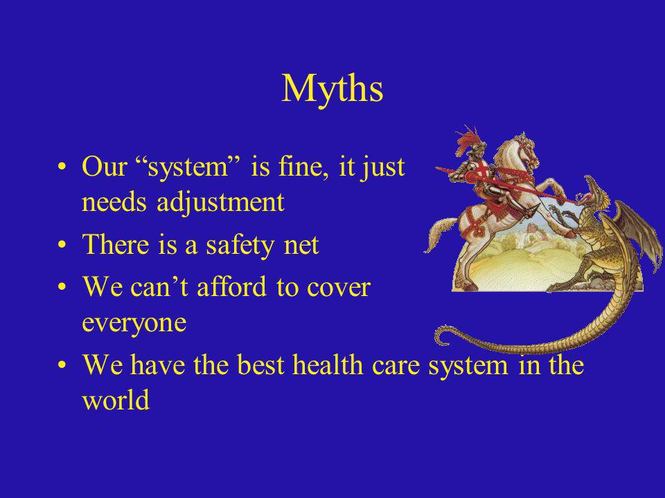 Myths Our system is fine, it just needs adjustment