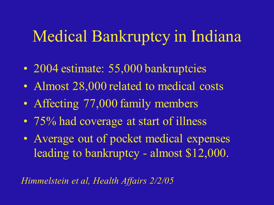 Medical Bankruptcy in Indiana