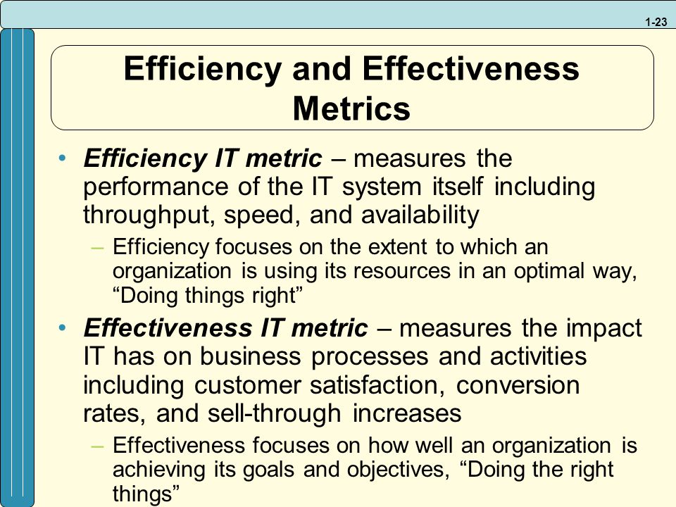 effectiveness and efficiency in benchmarking essay Improving productivity and efficiency  overall it would seem that group medical appointments have the potential to improve outpatient efficiency and effectiveness.