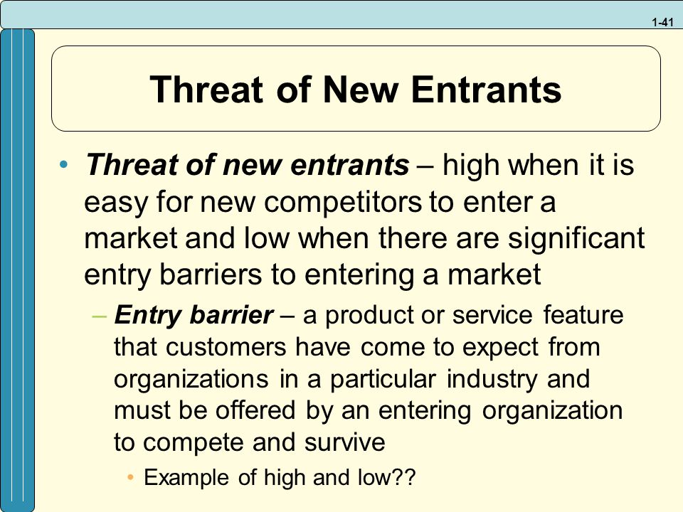 market entry barriers