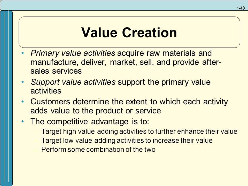 how to add value to primary products