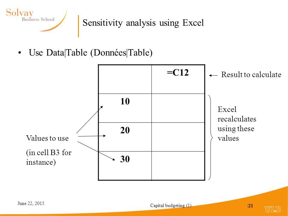 Sensitivity analysis using excel essay Essay Sample - August 2019