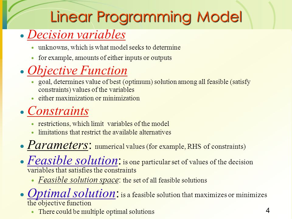 Role of linear programming in decision making